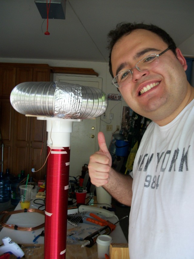 "Robert and his ""Thunderbolt"" Tesla Coil"